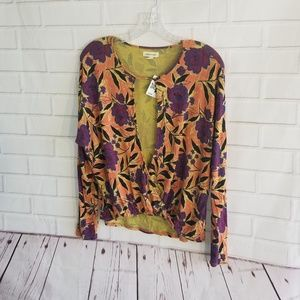 SILENCE + NOISE NWT OPEN FRONT BLOUSE M